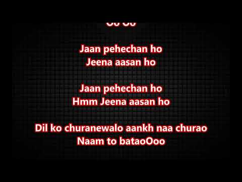 Jaan Pehchan Ho - Gumnaam - Full Karaoke Scrolling Lyrics