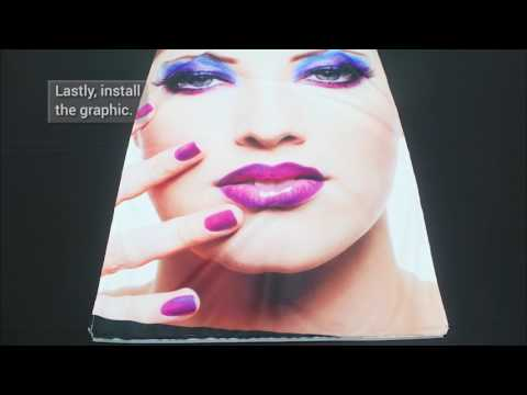 How to Set Up a Printed Fabric Graphic Frame   Godfrey Group