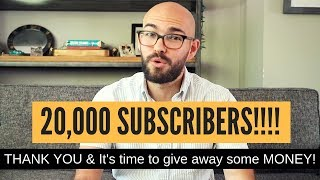 20,000 subscribers!!! Just a quick THANK YOU & GIVEAWAY!!