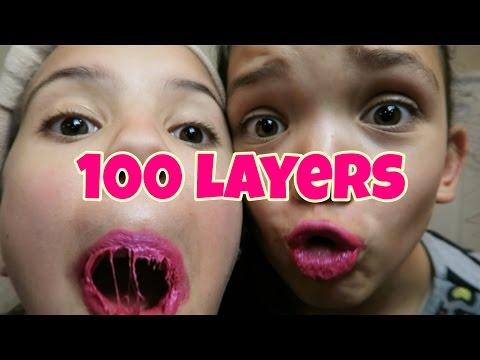 100 LAYERS OF LIQUID LIPSTICK | LIPSENSE