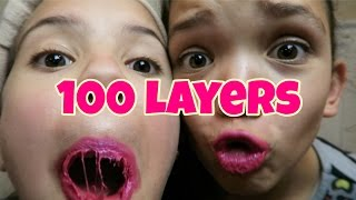 100 LAYERS OF LIQUID LIPSTICK | LIPSENSE