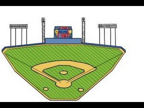 how to draw the busch stadium youtube rh youtube com Cartoon Baseball Stadium baseball field clipart