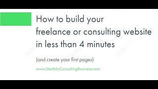 How to Build a Freelance Website in Less Than 5 minutes & create your first pages
