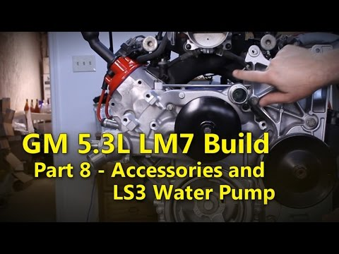 LS 5.3L Build Part 8 Senors and LS3 Water Pump | Project Rowdy Ep012