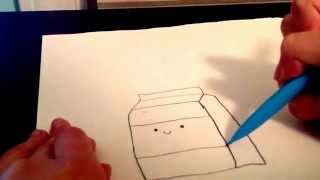 How to draw- Cute Milk Carton!- DoodleColors