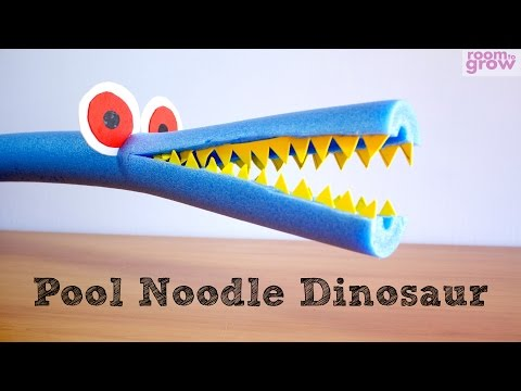 how-to-make-a-pool-noodle-dinosaur-|-easy-crafts-for-kids.