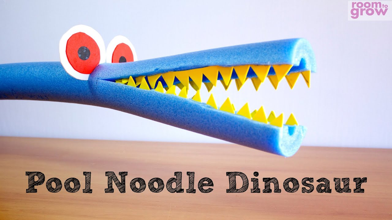 Craft Ideas For Kids Youtube Part - 29: How To Make A Pool Noodle Dinosaur | Easy Crafts For Kids. - YouTube