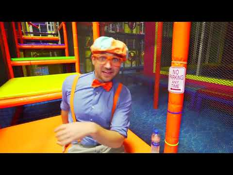 Blippi Toys! Blippi Plays at the Indoor Play Place Learn Street Signs for Kids