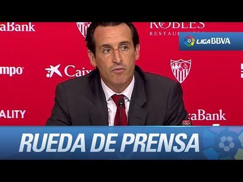 Rueda de prensa de Unai Emery tras el Sevilla FC (2-1) FC Barcelona