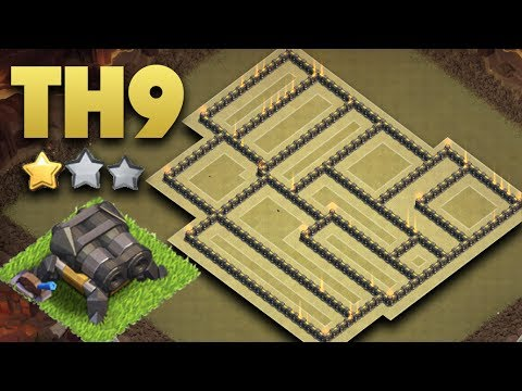 Most EPIC TH9 War Base 2017 Double Cannon | Best Town Hall 9 Anti 3 Star + Replays | Clash Of Clans