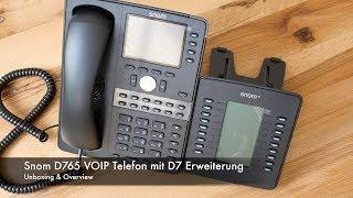 Unboxing Snom D765 VoIP Telefon und D7 Erweiterung