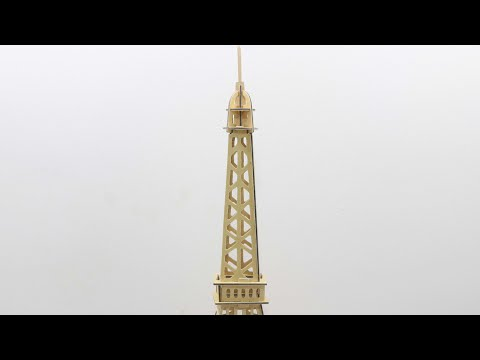 DIY Miniature Eiffel Tower ~ Woodcraft Construction Kit