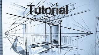 How to draw two point perspective easy drawing tutorial for beginners