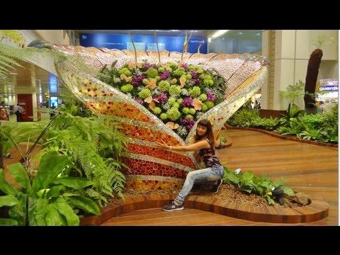 Singapore Airport. Changi Airport. Russian Girl in Asia, 1