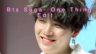 Bts Suga Edit (Fmv) One Thing (One Direction)