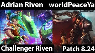[ Adrian Riven ] Riven vs Darius [ worldPeaceYan ] Top  - Adrian Riven 8.24
