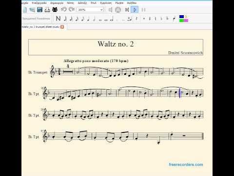 Waltz no  2 sheet music for trumpet