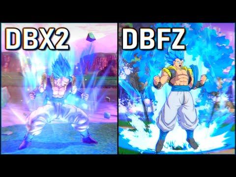 Gogeta (SSGSS) - All Attacks | DBFZ Vs DBXV2 [ + Super Saiyan Blue Vegito, Goku & Vegeta ]