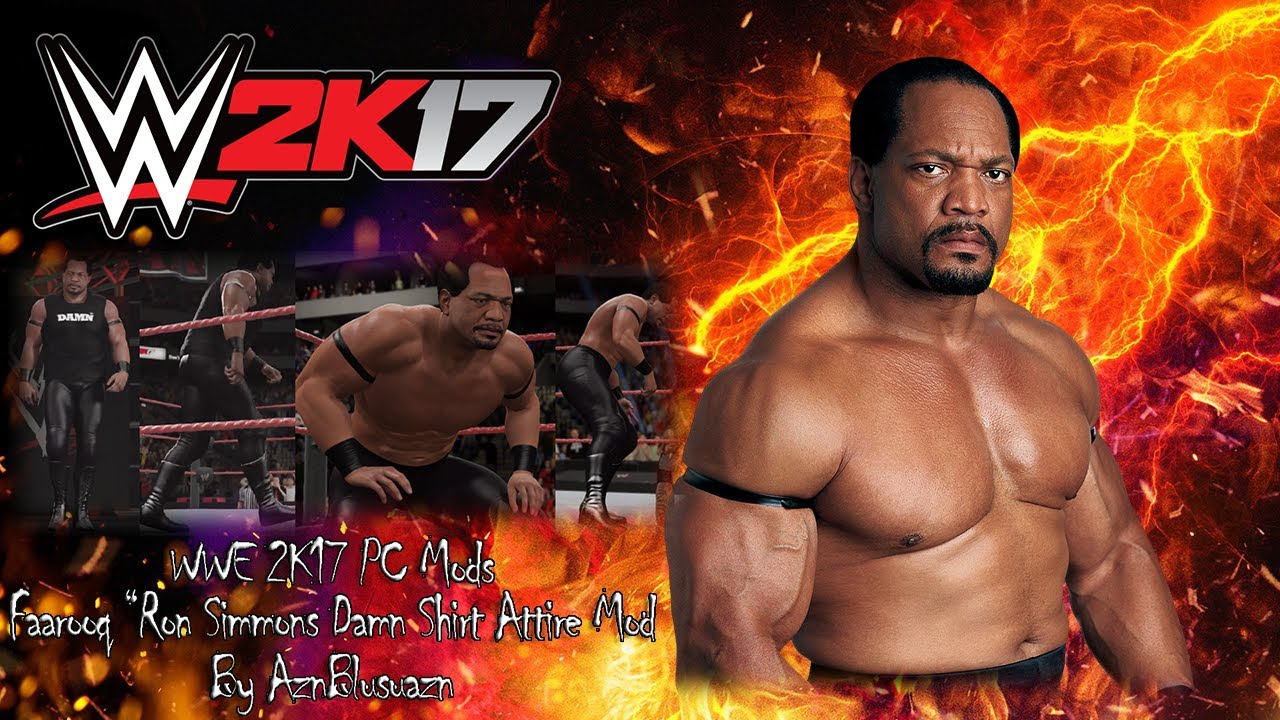 9af81c7e WWE 2K17 PC Mods : Faarooq/Ron Simmons