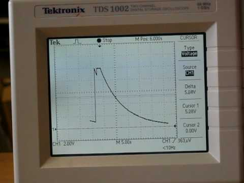 Capacitor Discharge on a Digital Scope
