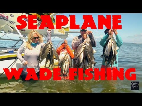 Bourgeois Fishing Charters Seaplane Surf Fishing On Castin' Cajun