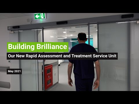 YouTube post - Opening our new Rapid Assessment and Treatment Service Unit