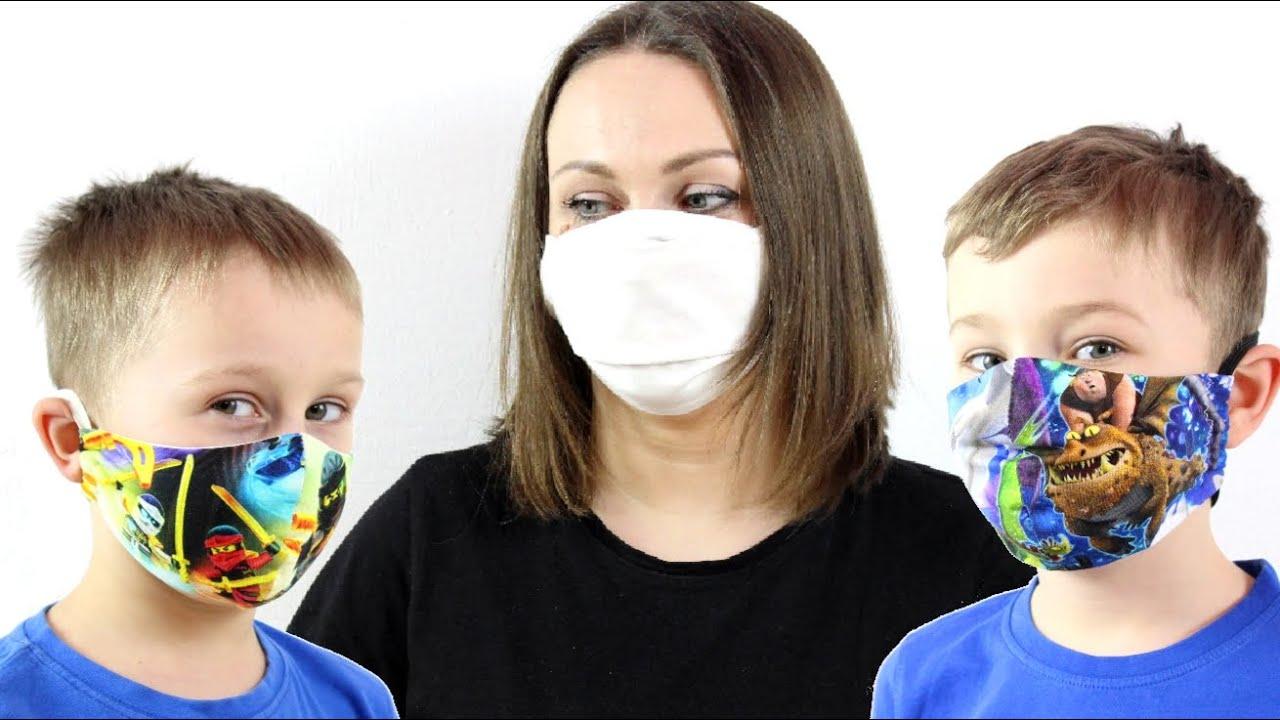 КАК СДЕЛАТЬ МАСКУ СВОИМИ РУКАМИ! Как сшить маску для взрослых и детей.