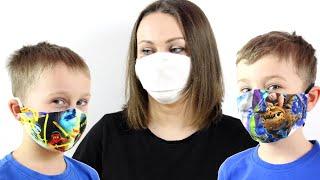 КАК СДЕЛАТЬ МАСКУ СВОИМИ РУКАМИ Как сшить маску для взрослых и детей