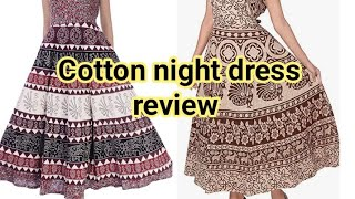 cotton night dress nighty design maxi design amazon night wear unboxing and review GreenMatTamil
