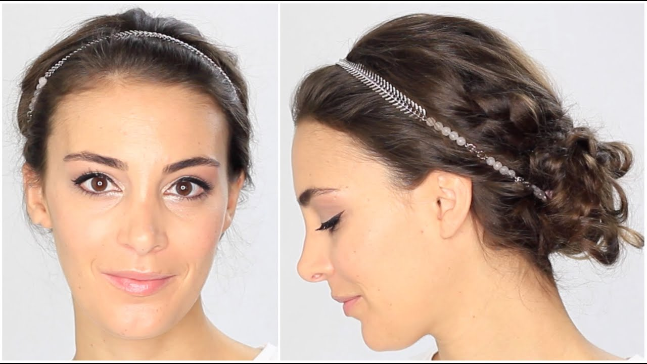 tuto coiffure boh me chic headband tresse chignon youtube. Black Bedroom Furniture Sets. Home Design Ideas