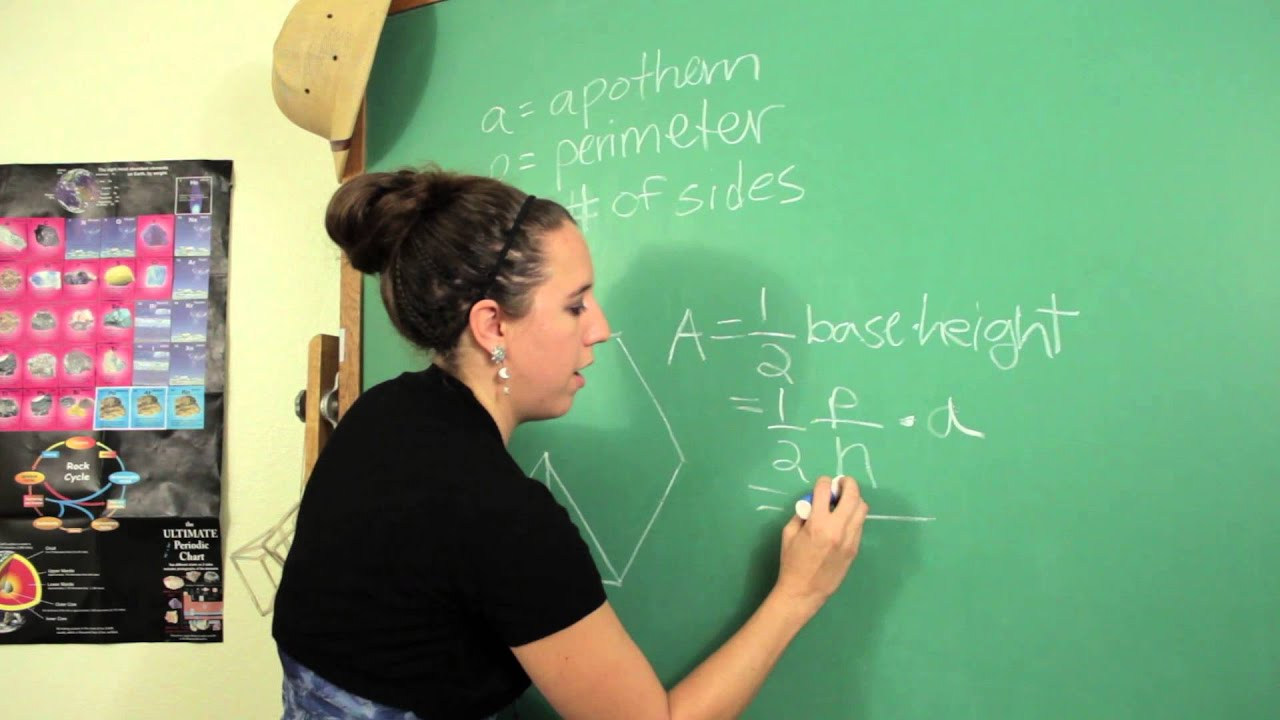 The Formula For Finding The Area Of A Regular Polygon When The Perimeter &  The : Science & Math  Youtube