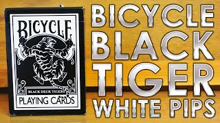 Deck Review - Bicycle Black Tiger White Pips Playing Cards [HD]