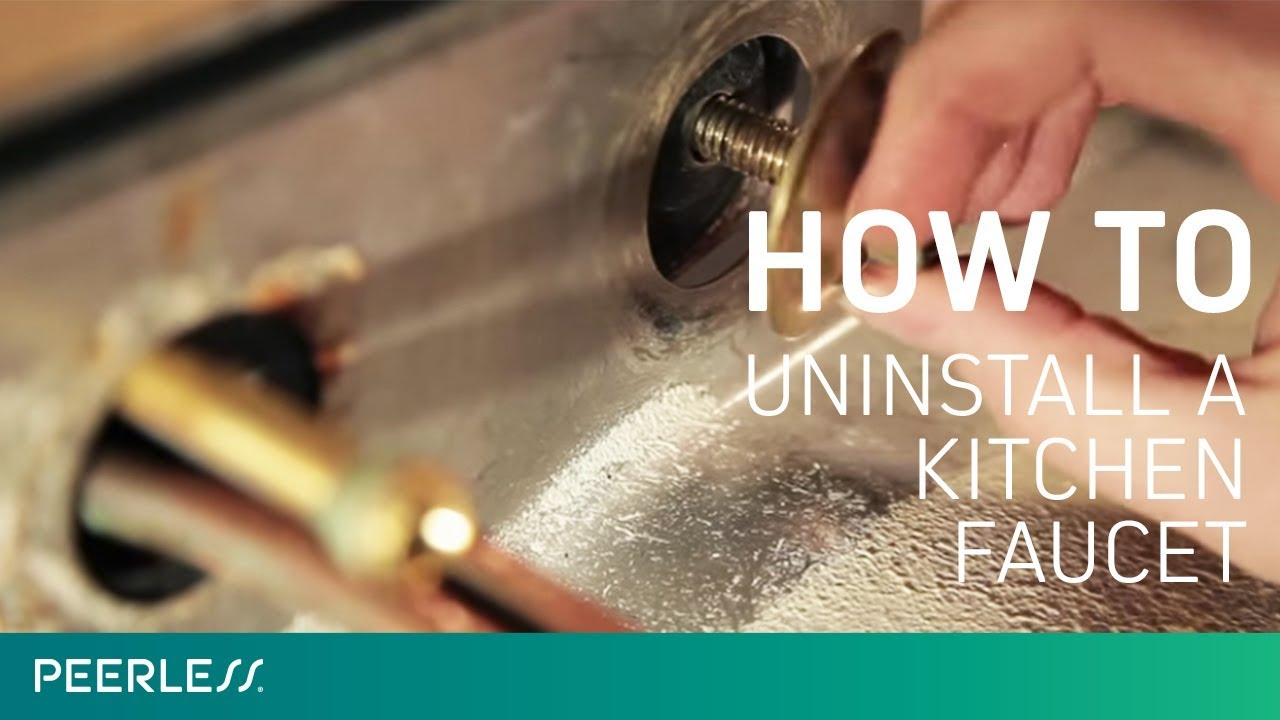 Incroyable How To Remove A Kitchen Faucet