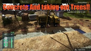 Construction Machines Simulator 2016 Concrete and taking out trees
