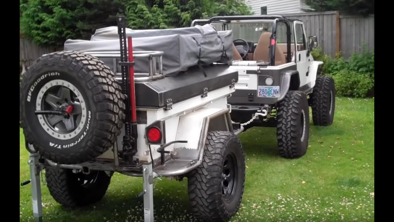 swag off road military expedition trailer build youtube