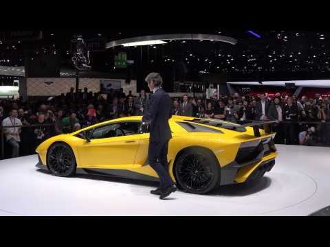 [4k] Press Conference Lamborghini LP750-4 SuperVeloce Aventador Premiere with Winkelmann CEO  Geneva