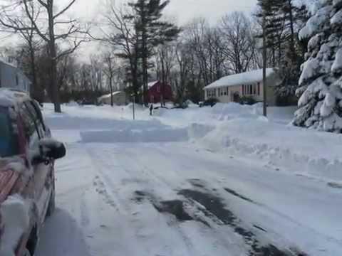 Blizzard in Leominster, Massachusetts