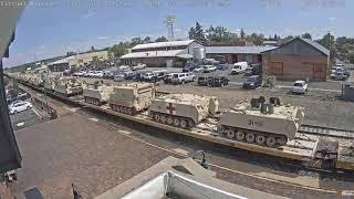 BNSF And NS Lead A Military Train Thru Flagstaff AZ