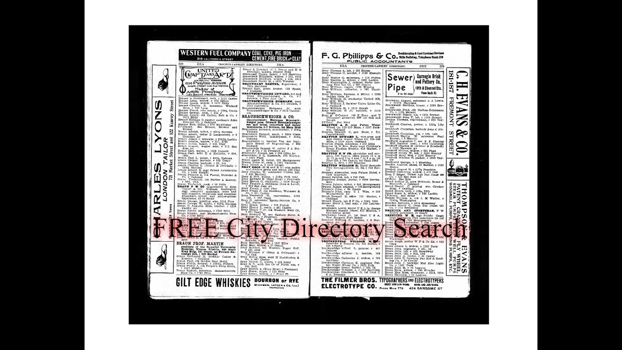 Researching City Directories - Using the Internet Archive