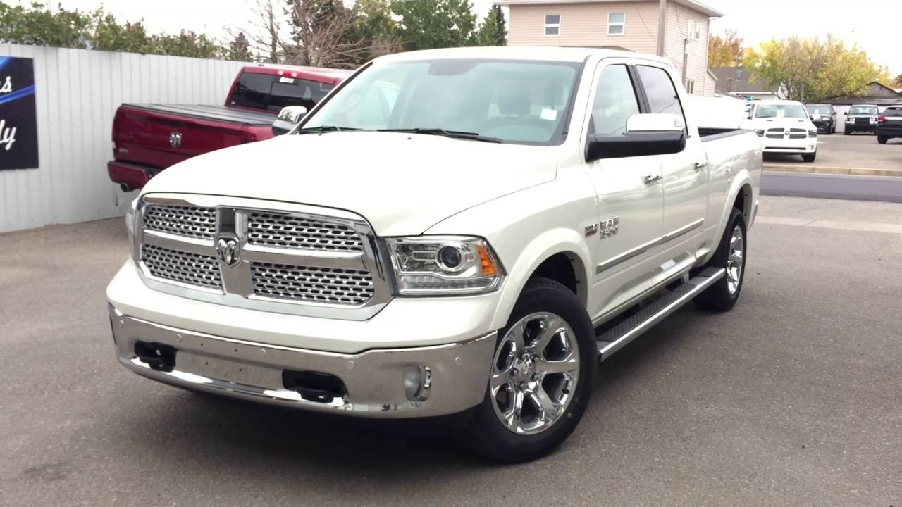 2017 pearl white ram 1500 laramie youtube. Black Bedroom Furniture Sets. Home Design Ideas