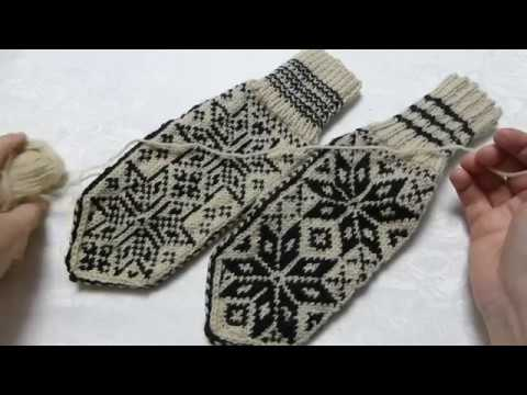 How To Knit Norwegian Selbu Mittens. Step By Step Tutorial