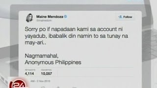 24 Oras: Instagram account ni Maine Mendoza, na-hack