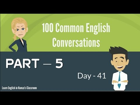 100 Common English Conversations - (PART - 05) -  Day  41 - 50