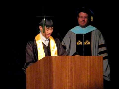 2009 Collins College Commencement BA Game Design Valedictorian
