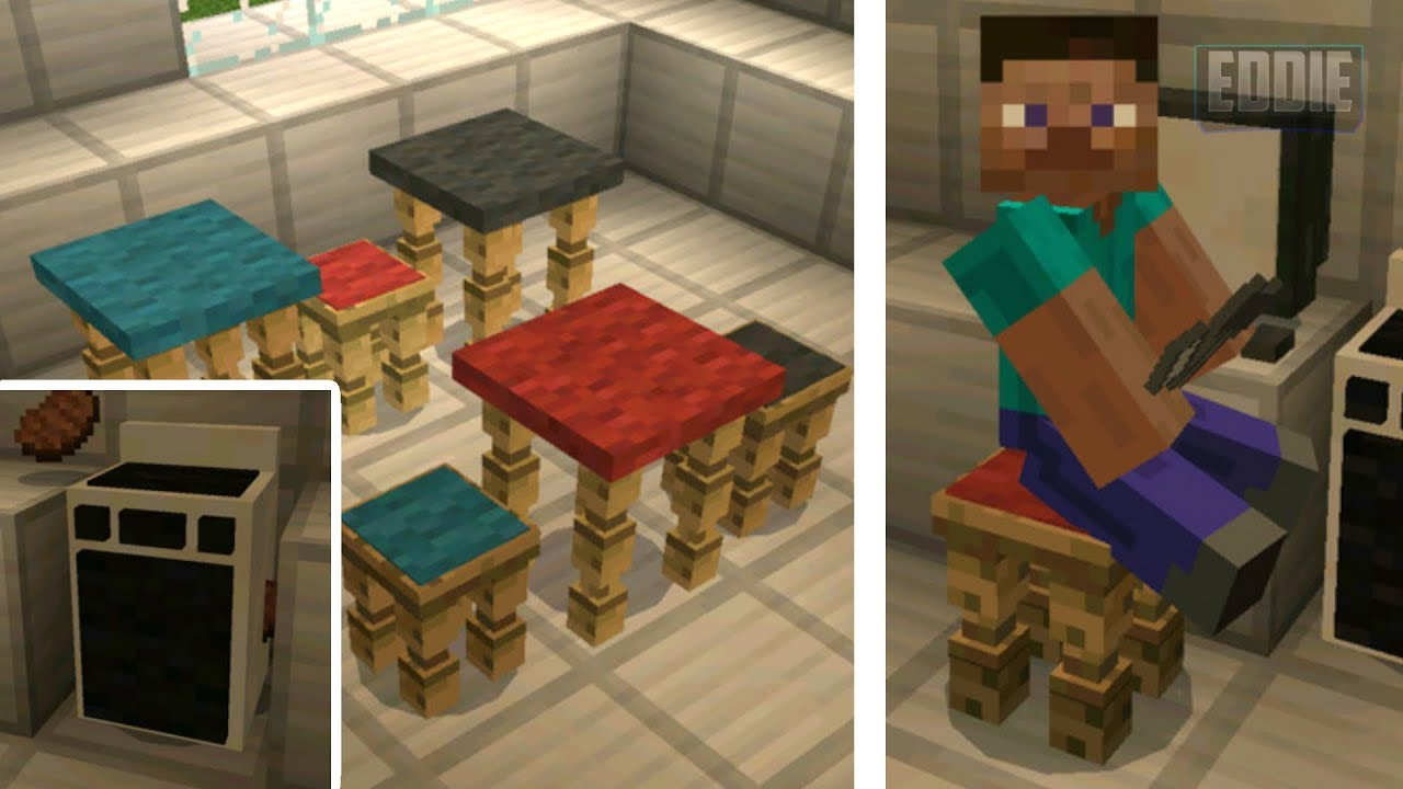 how to get furniture in minecraft pe no mods
