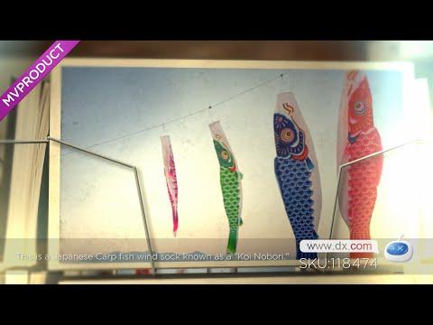 DX:Koi Nobori Carp Wind Sock Koinobori Fish Kite Flag