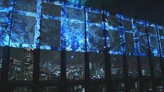 東京タワーは12日、地上150メートルの展望台全面を使った3Dプロ...