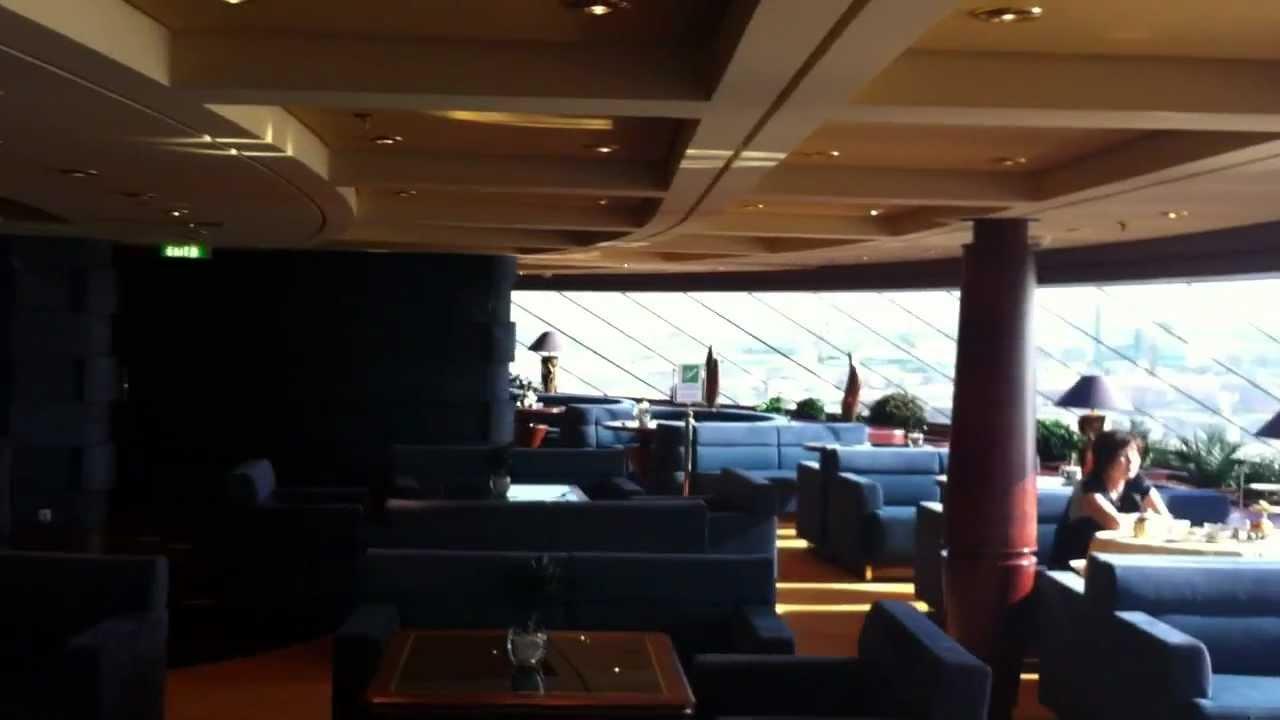 MSC Splendida Yacht Club Cabin to Top Sail Lounge Walk ...