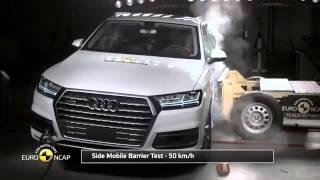 2016 Audi Q7 vs 2016 Volvo XC90 Crash Test   Çarpışma Testi