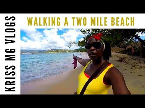 Epic Two Mile Walk Of Grand Anse Beach In Grenada!